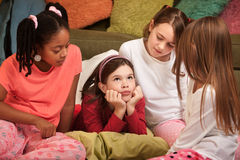 Girls at a Sleepover Stock Photo