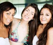 Girls smiling Royalty Free Stock Image