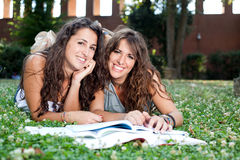 Girls Smiling Royalty Free Stock Photography