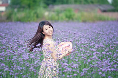 Girls smoked clothing flowers Royalty Free Stock Images