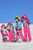 Girls on the snow Royalty Free Stock Images