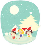 Girls in snow Royalty Free Stock Photography