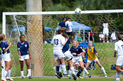 Girls soccer. Women soccer leagues are getting more popular every year in South Florida. This is due in part, to the influence of the large hispanic community in royalty free stock images