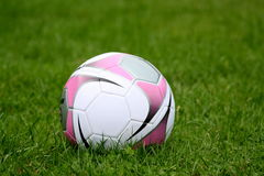 Girls soccer ball Royalty Free Stock Images