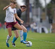 Girls Soccer ball control Stock Image