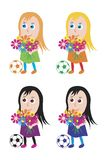 Girls are soccer players. Vector format Stock Photo