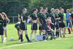 Girls soccer team Stock Photos