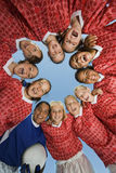 Girls' Soccer Team In Huddle Stock Images