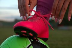 Womens soccer Royalty Free Stock Photography