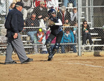 Girls Softball Stock Image