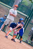 Girls Softball Runner on First Royalty Free Stock Images