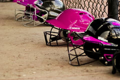 Girls Softball. Youth Softball Game, Daphne Pink Pixies vs. Spanish Fort Stock Images