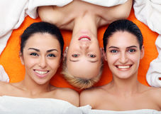 Girls in in SPA center Stock Photos