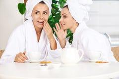 Girls at spa. Royalty Free Stock Photos
