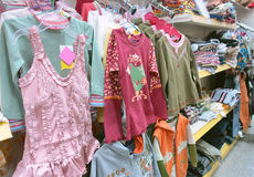 Girls' spring clothes Royalty Free Stock Image