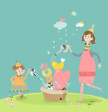 Girls in Spring Royalty Free Stock Images