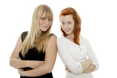 Girls stand together Stock Photos