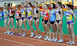 Girls on the start Royalty Free Stock Photo