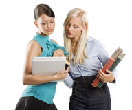 Girls student reading Royalty Free Stock Images
