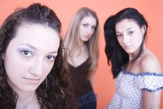 Girls in studio Royalty Free Stock Photography