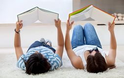 Girls studying Stock Images