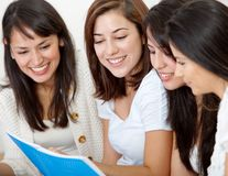 Girls studying Royalty Free Stock Photography