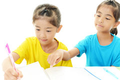 Girls studying Royalty Free Stock Photo