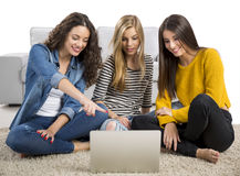 Girls studying at home Royalty Free Stock Images