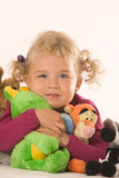 Girls with stuffed animals Royalty Free Stock Photos