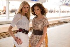 girls stylish Στοκ Φωτογραφίες