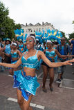 Girls in summer carnival parade 2012 Royalty Free Stock Photo