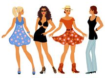 Girls in summer clothes Stock Image