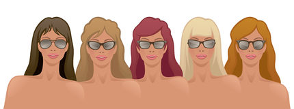 Girls in sunglasses Royalty Free Stock Photo