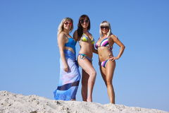 Girls in a swimming Royalty Free Stock Images