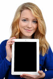 Girls with tablet Stock Photo