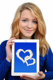 Girls with tablet Royalty Free Stock Photos