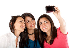 Girls taking a picture Royalty Free Stock Images