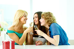 Girls talk Royalty Free Stock Photo
