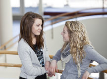 Girls talking Stock Photos