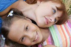 Girls talking outdoors Royalty Free Stock Images