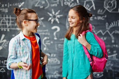 Girls talking Royalty Free Stock Image