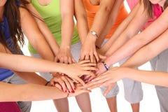 Girls' team stock photography