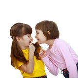 Girls tell each other secrets Royalty Free Stock Photography