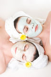 Girls on thier day spa Stock Image