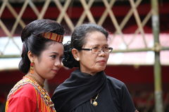Girls at Toraja Funeral Ceremony Royalty Free Stock Photography