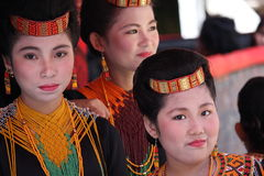 Girls at Toraja Funeral Ceremony Royalty Free Stock Images