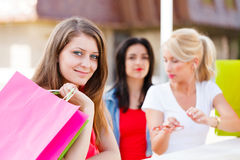 Girls in Town Stock Photography