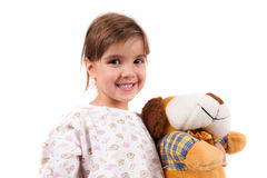 Girls with toys Royalty Free Stock Photo
