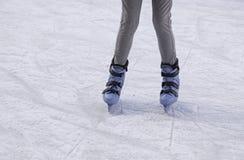 Girls track skating. Ice skating rink, fun and entertainment stock photos