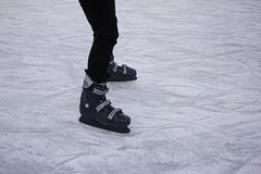 Girls track skating. Ice skating rink, fun and entertainment royalty free stock photo